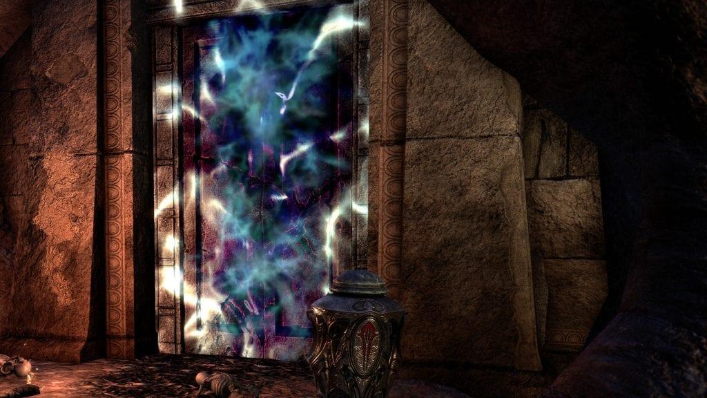 La porte scellée menant au dernier boss caché